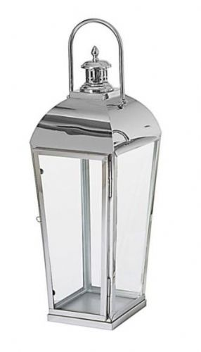 Polished Stainless Steel Taper Lantern Large